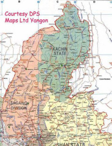 Map of Kachin State