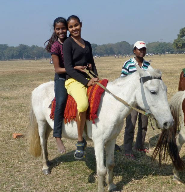 Girls on horseback