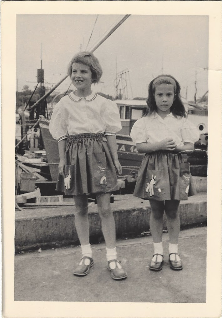 Dina and Vivienne in skirts and mary janes