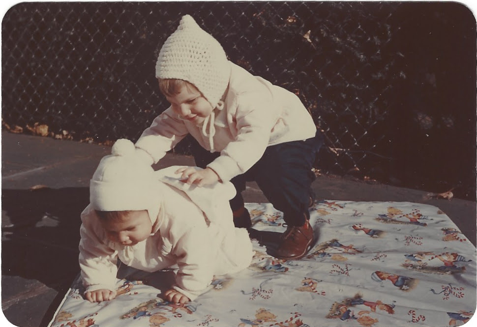 Dina and Vivienne playing together as young children